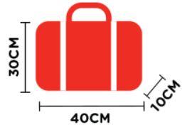 airasiaの機内持ち込み手荷物のサイズ