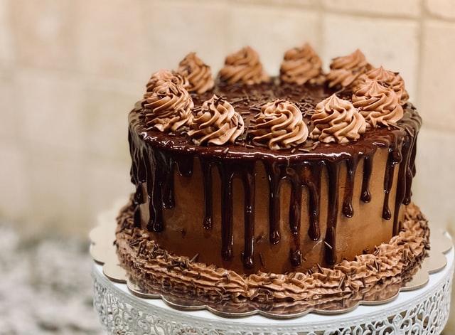 ワンホールのチョコケーキ