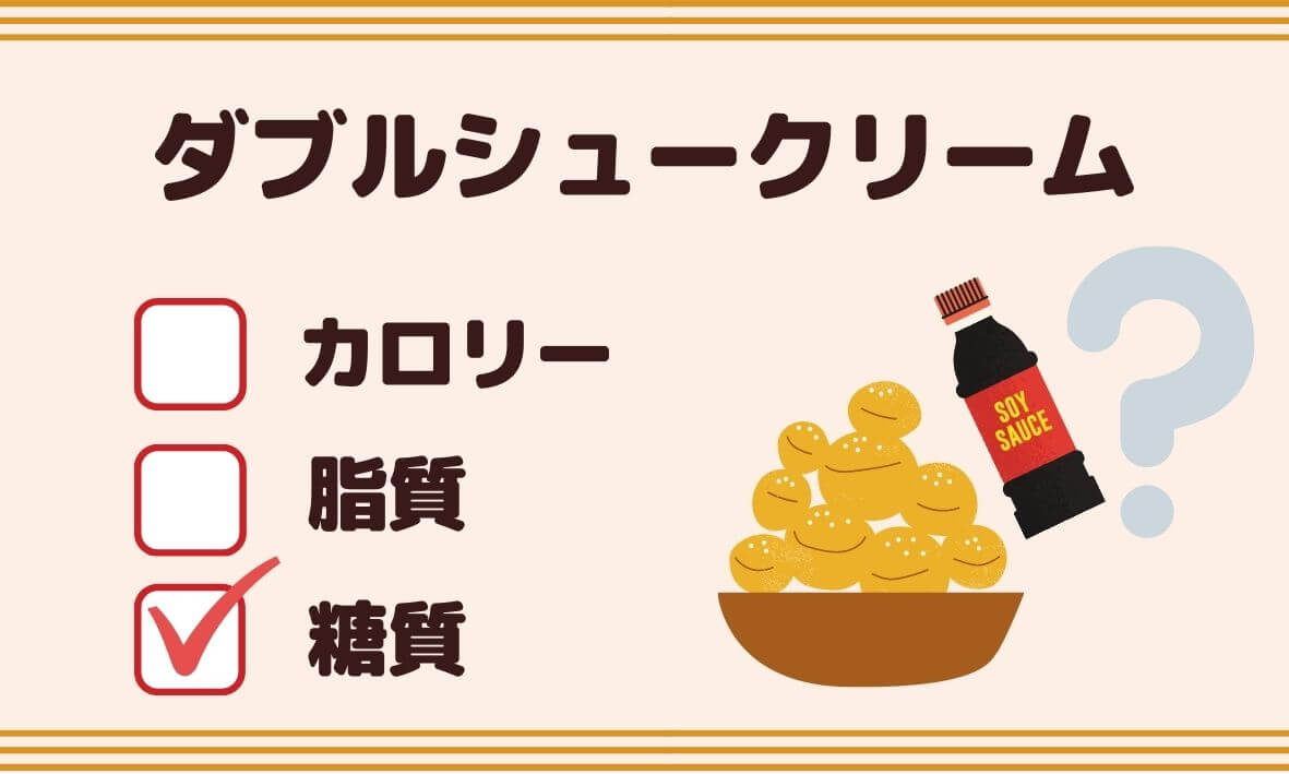 シャトレーゼ「ダブルシュークリーム」の糖質