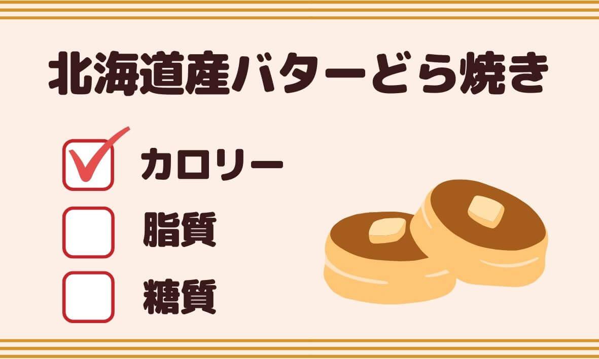 北海道産バターどら焼きのカロリー