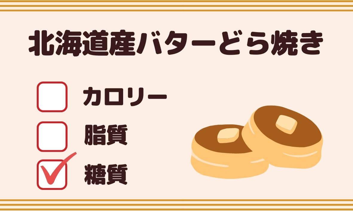 北海道産バターどら焼きの糖質