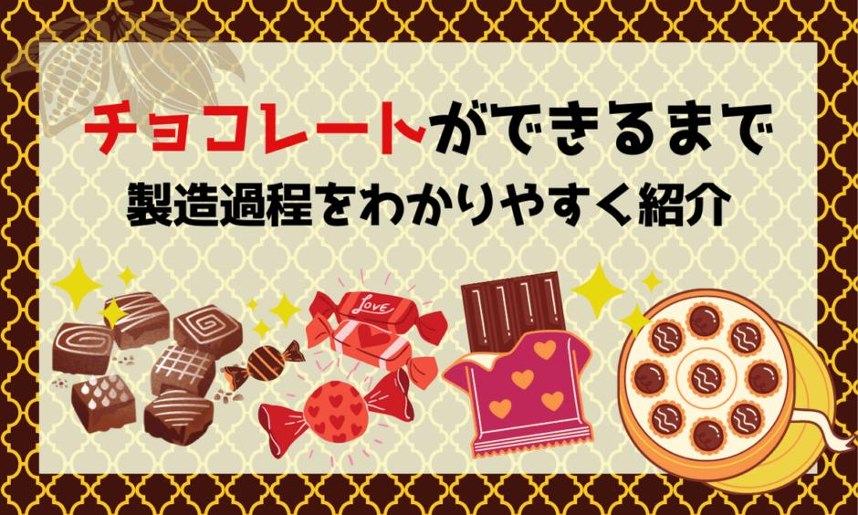 カカオからチョコレートができるまでの製造過程を分かりやすく紹介